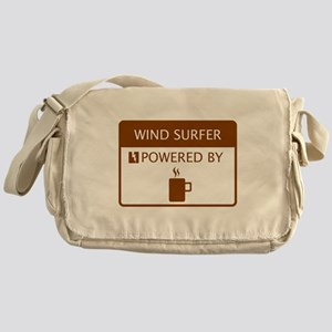 Wind Surfer Powered by Coffee Messenger Bag
