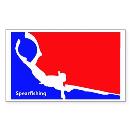 Major League Spearfishing Sticker (Rectangle)
