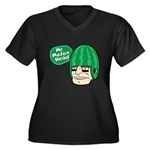 Mr. Melon Head Women's Plus Size V-Neck Dark T-Shi