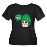 Mr. Melon Head Women's Plus Size Scoop Neck Dark T