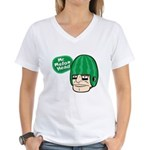 Mr. Melon Head Women's V-Neck T-Shirt
