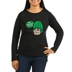 Mr. Melon Head Women's Long Sleeve Dark T-Shirt