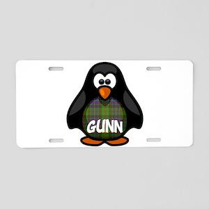 Gunn Tartan Penguin Aluminum License Plate