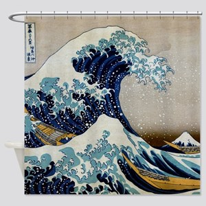 hokusai kanagawa shower curtain - Cool Shower Curtains