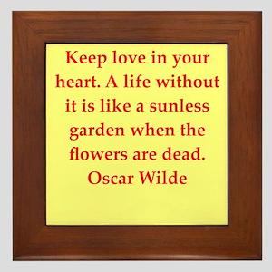 oscar wilde quote Framed Tile