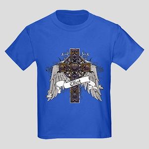 Elliot Tartan Cross Kids Dark T-Shirt