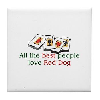 Red Dog Tile Coaster