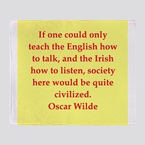 oscar wilde quote Throw Blanket