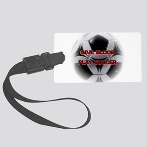 Blood Soccer Large Luggage Tag