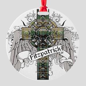 Firtzpatrick Tartan Cross Round Ornament