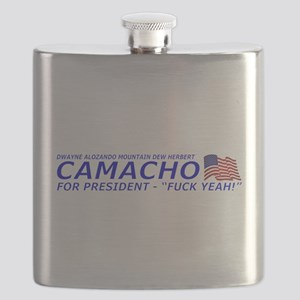 Camacho For President 2012 Election Campaign Flask