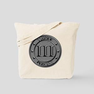 Three Percent Silver Tote Bag