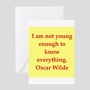 Smart ass quotes greeting cards cafepress oscar wilde quote greeting card m4hsunfo