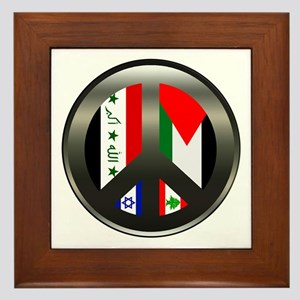 Peace in the Middle East Framed Tile