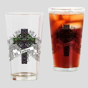 Forbes Tartan Cross Drinking Glass