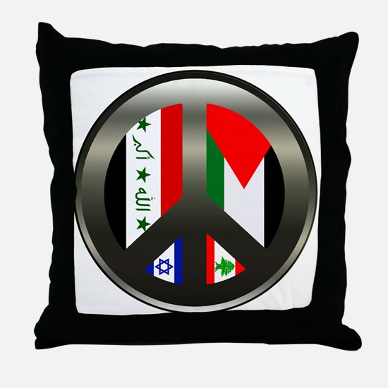Peace in the Middle East Throw Pillow