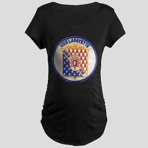 USS LAFAYETTE Maternity Dark T-Shirt