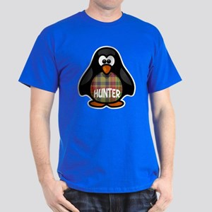 Hunter Tartan Penguin Dark T-Shirt
