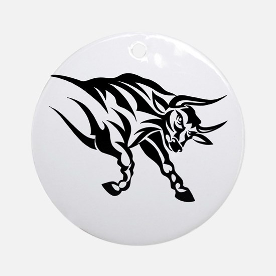 Tribal Taurus Ornament (Round)