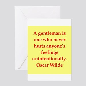 wilde2.png Greeting Card