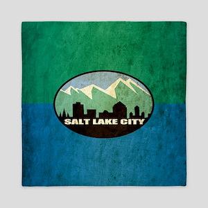 Vintage Salt Lake City Flag Queen Duvet