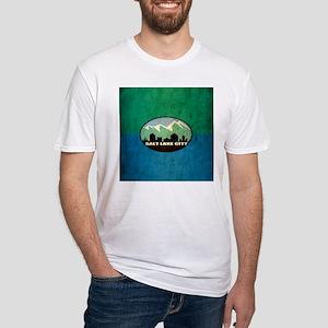 Vintage Salt Lake City Flag Fitted T-Shirt