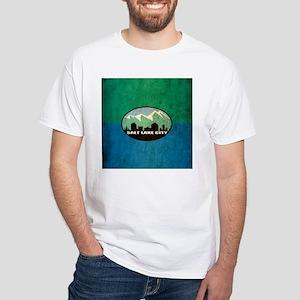 Vintage Salt Lake City Flag White T-Shirt