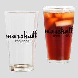 Marshall Titus Script Drinking Glass