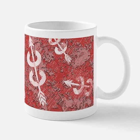 RED Grunge Cross Country Running Mug