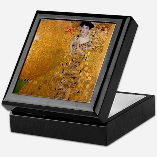 Klimt Portrait of Adele Bloch-Bauer Keepsake Box
