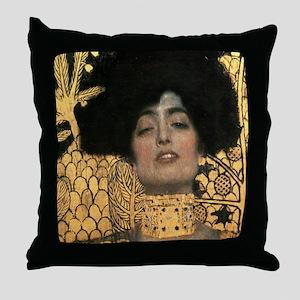 Gustav Klimt Judith (Detail) Throw Pillow
