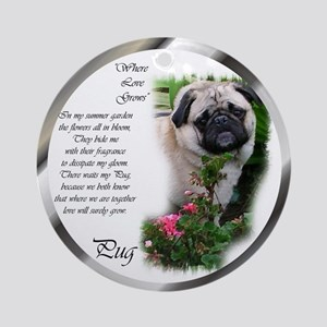 Pug Gifts Ornament (Round)