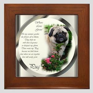 Pug Gifts Framed Tile