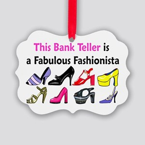 BANK TELLER Picture Ornament