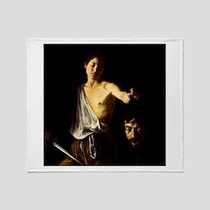 Caravaggio David Goliath Throw Blanket
