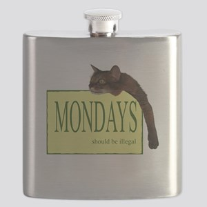 Mondays Should Be Illegal Flask