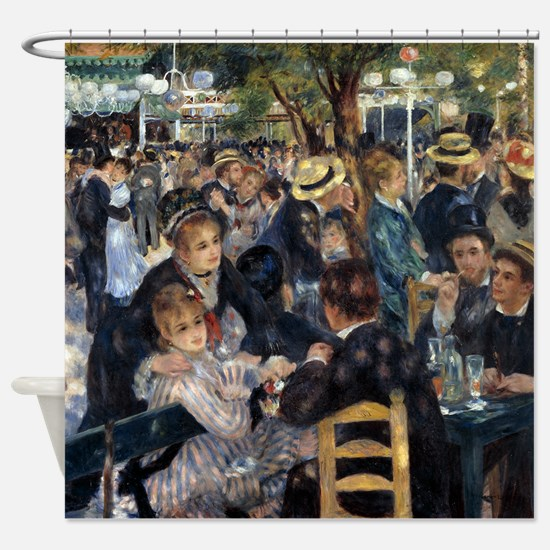 Renoir Le Moulin de la Galette Shower Curtain