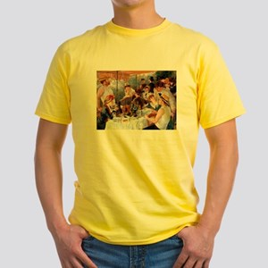 Renoir Luncheon Of The Boating Party Yellow T-Shir
