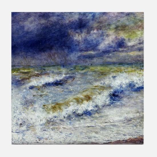 Renoir Seascape Tile Coaster