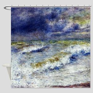 Renoir Seascape Shower Curtain
