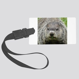 Groundhog Eating Large Luggage Tag