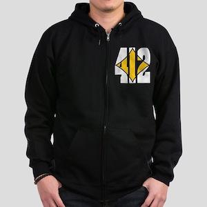412 White/Gold-W Zip Hoodie (dark)