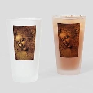 Leonardo Da Vinci La Scapigliata Drinking Glass