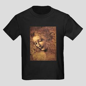 Leonardo Da Vinci La Scapigliata Kids Dark T-Shirt
