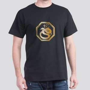 Gold tone Year of the Snake Dark T-Shirt