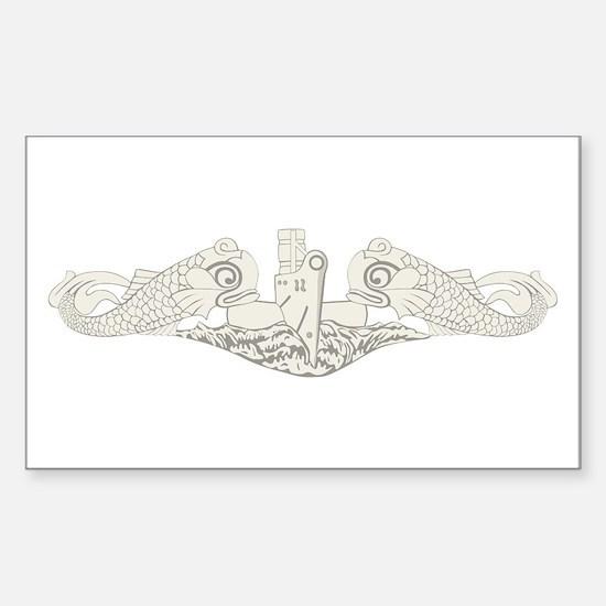 Submarine Warfare Sticker (Rectangle)