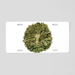 Green Man Aluminum License Plate