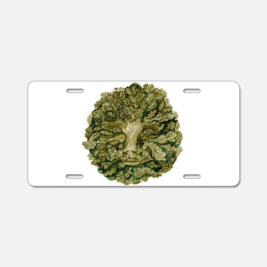 Green Man Aluminum License Plate