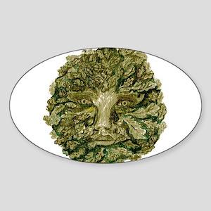 Green Man Sticker (Oval)