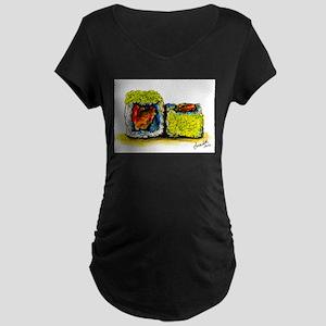 Sushi Couple 3 Maternity Dark T-Shirt